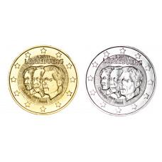2 euros Luxembourg 2011 Ducs dorée+argentée