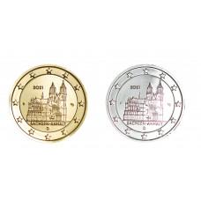 2 euros Allemagne 2021 Sachsen dorée+argentée