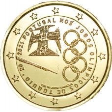 Portugal 2021 JO dorée à l'or fin 24 carats - 2€ commémorative