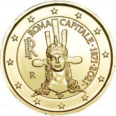 Italie 2021 Rome dorée à l'or fin 24 carats - 2€ commémorative