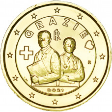 Italie 2021 Merci dorée à l'or fin 24 carats - 2€ commémorative