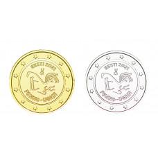 2 euros Estonie 2021 Peuples dorée+argentée
