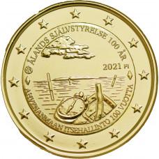 Finlande 2021 Aland dorée à l'or fin 24 carats - 2€ commémorative