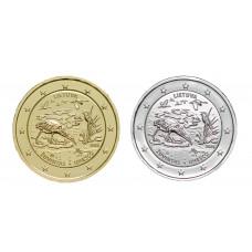 2 euros Lituanie 2021 Unesco dorée+argentée