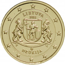 Lituanie 2021 Dzukija dorée à l'or fin 24 carats - 2€ commémorative