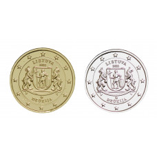 2 euros Lituanie 2021 Dzukija dorée+argentée
