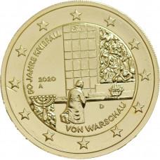 Allemagne 2020 Varsovie - 2 euro dorée à l'or fin 24 carats