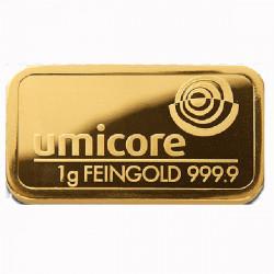 Lingot Or pur 999‰ - 1g