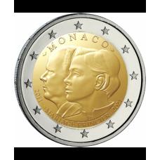"""ACOMPTE de réservation : Monaco 2021 2 euro commémorative """"10 ans de mariage"""""""