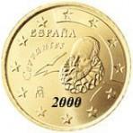 Espagne 50 Cents  2000