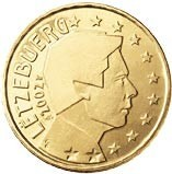 Luxembourg 50 Cents 2002 Arthur Maury