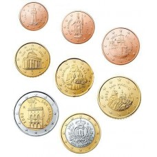 SAINT-MARIN - SERIE COMPLETE DE 1 CENTIME A 2 EUROS