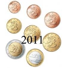 Finlande 2011 : serie de 1 cent a 2 euros