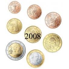 Autriche 2008 : serie de 1 cent a 2 euros