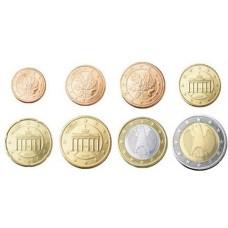 Allemagne 2002 : serie de 1 cent a 2 euros