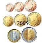 Luxembourg 2005 : Série complète euro neuve