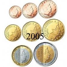 Luxembourg 2005 : série de 1 cent à 2 euros