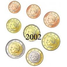 Belgique 2002 : serie de 1 cent a 2 euros