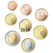 Espagne 2010 : serie de 1 cent a 2 euros