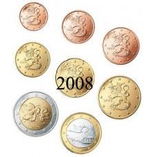 Finlande 2008 : serie de 1 cent a 2 euros