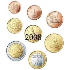 Italie 2008 : série de 1 cent à 2 euro