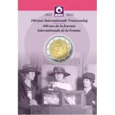BELGIQUE 2011 - 2 EUROS COMMEMORATIVE EN COINCARD