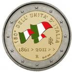 Italie 2011 - 2 euro commémorative en couleur