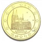Allemagne 2011 - 2 euro commémorative dorée à l'or fin 24 carats