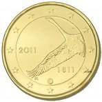 Finlande 2011 - 2 euro commémorative dorée à l'or fin 24 carats