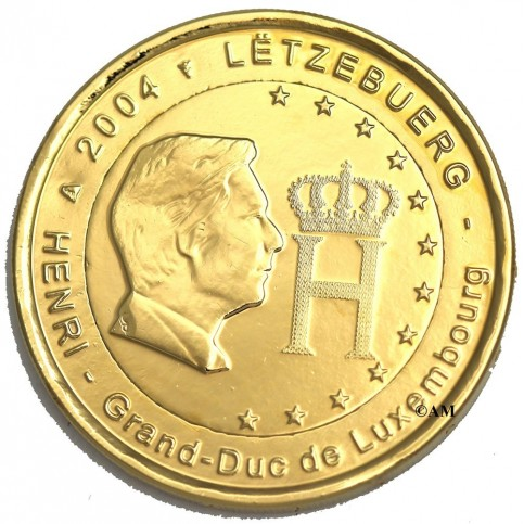 Luxembourg 2004 doree a l'or fin 24 carats
