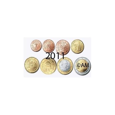 Autriche 2011 : série de 1 cent à 2 euros