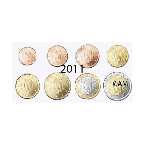 Irlande 2011 : série de 1 cent à 2 euros