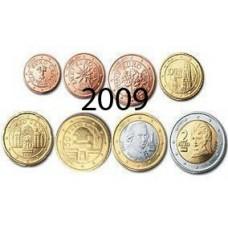 Autriche 2009 : serie de 1 cent a 2 euros