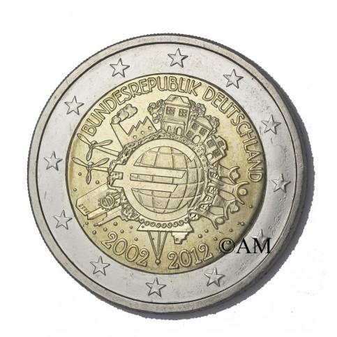 ALLEMAGNE 2012 - 10 ANS DE L'EURO