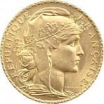20 Francs Or Marianne Coq - Dieu protège la France