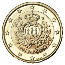 SAINT MARIN 2009 - 1 EURO DOREE OR FIN 24 CARATS
