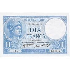 10 FRANCS - Minerve et Paysanne - Caissier Principal - 1916 1937 - Etat TTB