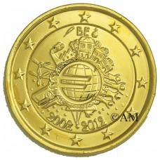 BELGIQUE 2012 - 10 ANS DE L' EURO - DOREE OR 24 CARATS