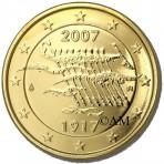 Finlande 2007 - 2 euro commémorative dorée à l'or fin 24 carats