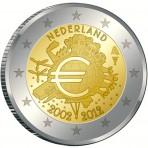 Pays-Bas 2012 - 2 euro commémorative 10 ans de l'euro