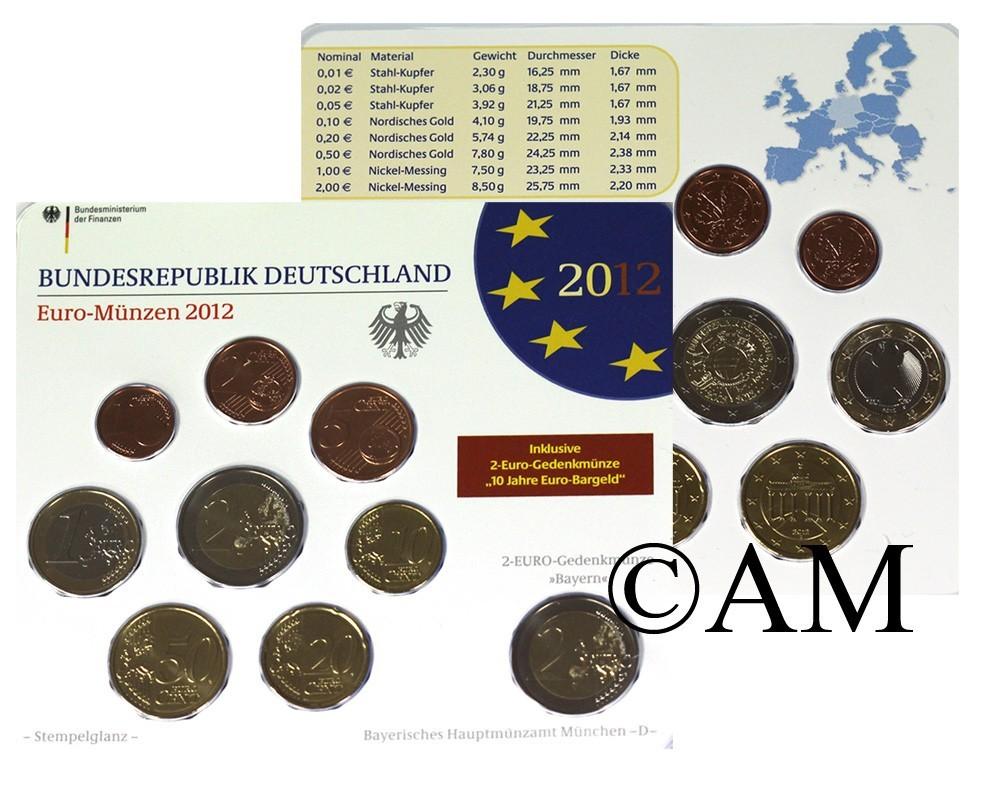 Allemagne 2012 Les 5 Ateliers Coffrets Euro Bu Arthur Maury