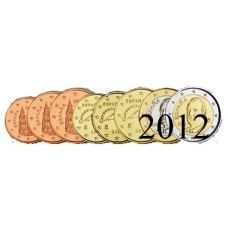 Espagne 2012 : serie de 1 cent a 2 euros