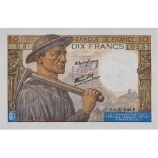 10 FRANCS - Mineur et Paysanne - 1941-1949 - Etat TTB
