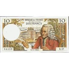 10 FRANCS - Voltaire - 1963-1973 - Etat SUP