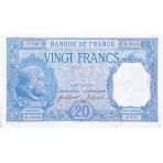 20 Francs - Chevalier Bayard et Paysan - 1916-1919 - Qualité courante