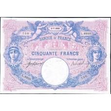 50 FRANCS - Bleu et Rose - 1889-1927 - Etat TTB