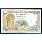 50 Francs - Ceres et Mercure - Le Caissier Principal - 1934-1937 - Qualité courante