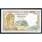 50 Francs - Ceres et Mercure - Le Caissier Principal - 1934-1937 - Belle qualité