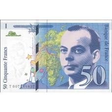 50 FRANCS- Saint Exupery - 1992-1996 - Etat SUP