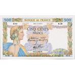 500 Francs - La Paix - 1940-1944 - Belle qualité